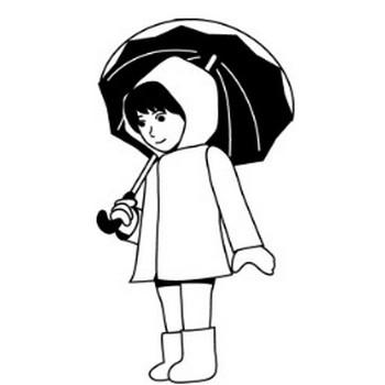 イラストポップの季節の素材 | 春夏秋冬の行事や風物のイラスト6月雨具
