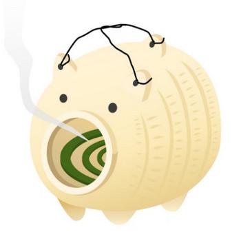 豚蚊取りのイラスト - 無料イラストのIMT 商用OK、加工OK