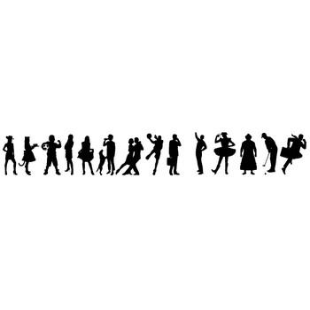 フリーダウンロード素材集|シルエット人物イラスト|グラフィック画像
