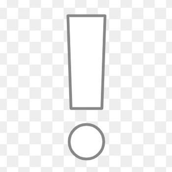 ビックリマーク(角端)の無料イラスト素材