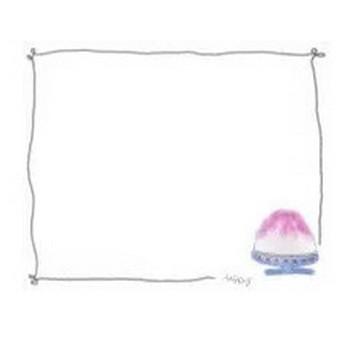 フリー素材:フレーム;ガーリーなかき氷(イチゴ)のイラスト。夏の無料素材 | webデザイン素材 tigpig