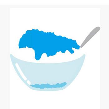 年中行事 かき氷(ブルーハワイ味・青色)(カラー) – 無料で使えるイラスト素材・PowerPointテンプレート配布サイト【素材工場】