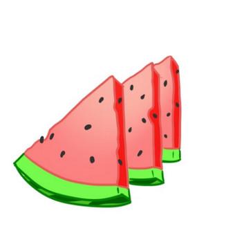 三角に切ってある「すいか」のイラスト - 無料イラストのIMT 商用OK、加工OK