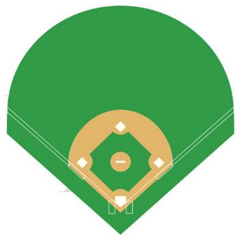 野球イラスト「野球場 グラウンド」- 無料のフリー素材