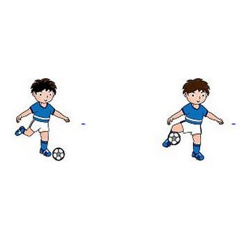 サッカーの無料イラスト(輪郭線有り)-イラストポップのスポーツクリップアートカット集