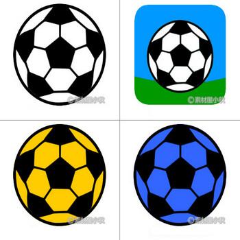 サッカーボールのイラスト | 素材屋小秋