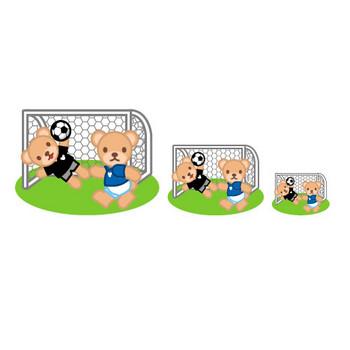 フリー素材・無料イラスト「ふぁんし~・ぱ~つ・しょっぷ」-スポーツ-サッカーのイラスト