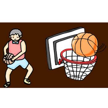 バスケットボールの素材イラスト   イラスト素材:パンコス