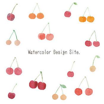 水彩さくらんぼイラスト « Watercolor Design Site.