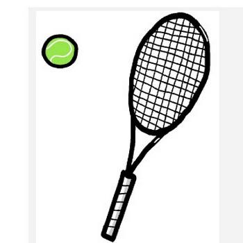 テニスラケット イラスト - シンプルイラスト素材☆