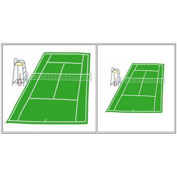 テニス素材Tシャツ「テニス大好き素材屋さん」