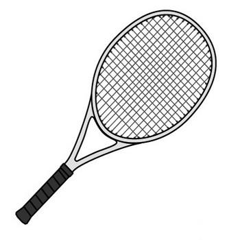 シンプルなテニスラケットの無料イラスト素材|iiイラストイメージ