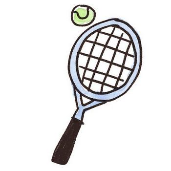 テニスラケットとボールのイラスト(スポーツ器具): ゆるかわいい無料イラスト素材集
