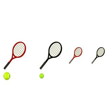 フリー素材集 ミスティーネット イラスト■スポーツ系 ・テニス 野球■