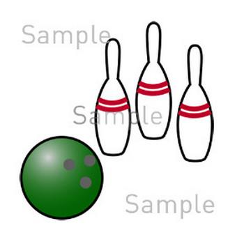 ボーリングの無料イラスト素材|登録不要のイラストぱーく
