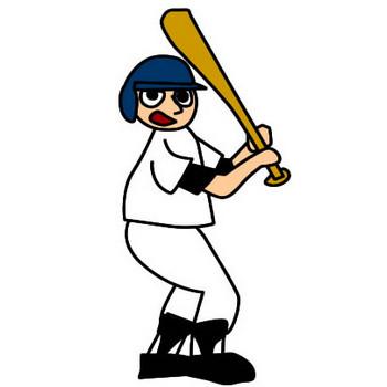 野球選手のイラスト|フリーイラスト素材 変な絵.net
