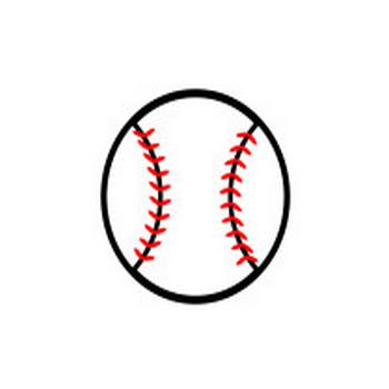 かわいい野球ボールの無料イラスト・商用フリー   オイデ43