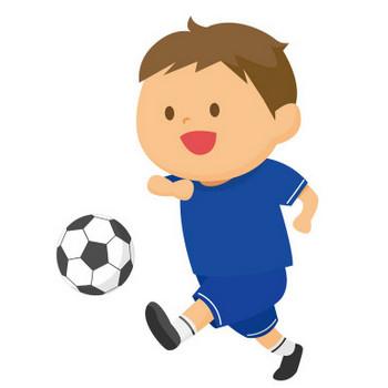 [無料イラスト] サッカーする男の子 - パブリックドメインQ:著作権フリー画像素材集