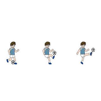 イラストポップのスポーツフリーイラスト | サッカーの無料素材