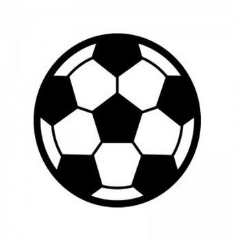 サッカーボールのシルエット | 無料のAi・PNG白黒シルエットイラスト