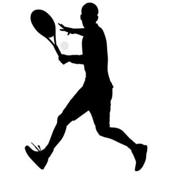 男性テニスプレイヤーシルエット(CSai・png) | 無料イラスト素材|素材ラボ