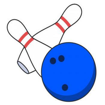 ボーリングの球とピン【無料イラスト・フリー素材】