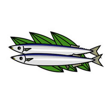 秋刀魚 - 素材【クリップアート】 - 彩クリWEB