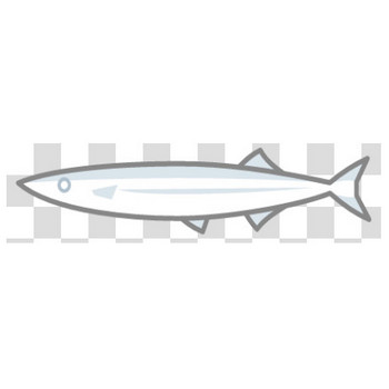 【塗れる】秋刀魚のフリーイラスト素材