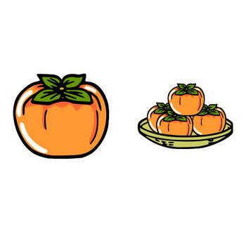 柿のイラスト   素材屋小秋