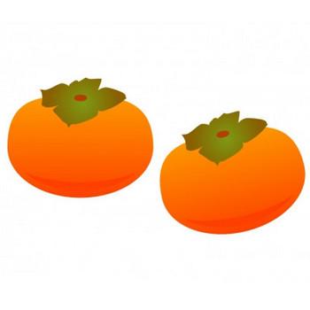 柿・果物イラスト素材   イラスト無料・かわいいテンプレート