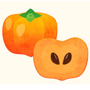 柿のイラスト – PENTA – 登録不要・商用フリーのイラスト素材サイト