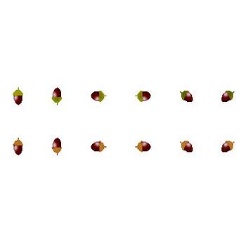秋のイラスト・どんぐり・栗・ぶどう・きのこ・コスモス/無料イラスト素材 フリー素材