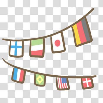 万国旗のフリーイラスト素材