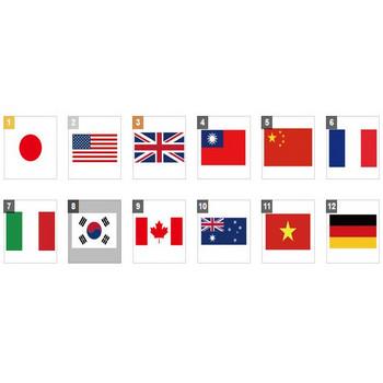国旗   【無料配布】イラレ/イラストレーター/ベクトル パスデータ保管庫【ai・eps ベクター素材】