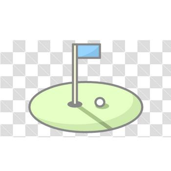 【塗れる】ゴルフのフリーイラスト素材