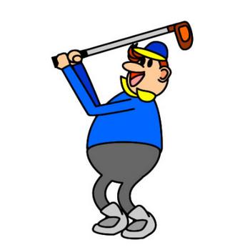 ゴルフをする人のイラスト | フリーイラスト素材 変な絵.net