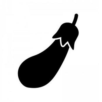 ナスのシルエット | 無料のAi・PNG白黒シルエットイラスト