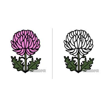 菊のイラスト | 素材屋小秋