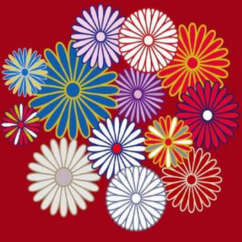 菊の紋章の和柄イラスト素材 | 【無料配布】イラレ/イラストレーター/ベクトル パスデータ保管庫【ai・eps ベクター素材】