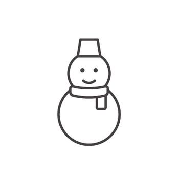 雪だるまのアイコン04素材 | 無料のアイコンイラスト集 icon-pit