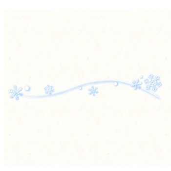 雪の結晶ライン(ぼかし) | フリーイラスト素材のぴくらいく|商用利用可能です
