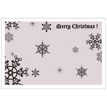 クリスマスカード雪の結晶 無料素材 ダウンロード | ペーパーミュージアム