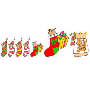 【素材屋405番地】クリスマス(カット・ライン)一覧|WEB用イラスト素材・みきゆフォント