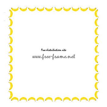 バナナのイラストの四角フレーム・枠 | 【無料・商用可能】枠・フレーム素材配布サイト
