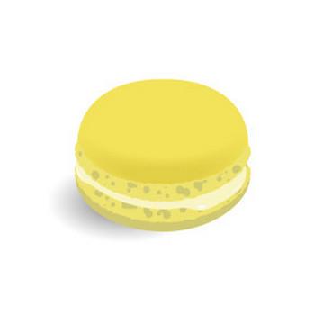 洋菓子 マカロン(レモン) - フリーイラスト素材 「趣味で作ったイラストを配るサイト」