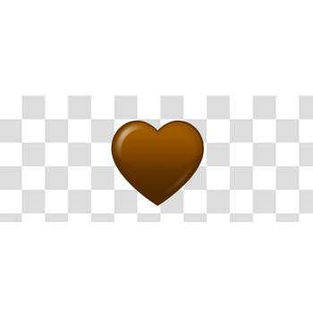 ハート型のチョコレートのフリーイラスト素材