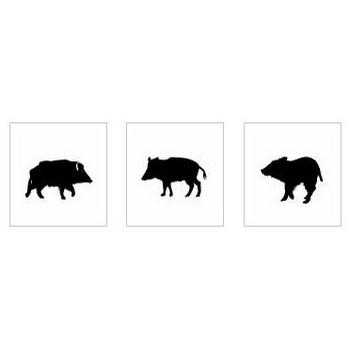 イノシシ|シルエット イラストの無料ダウンロードサイト「シルエットAC」