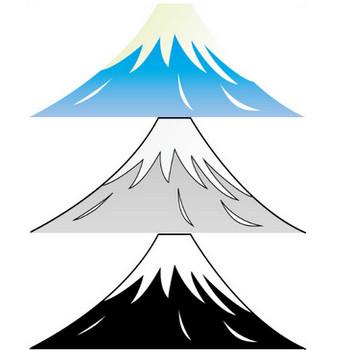 2月23日富士山の日-富士山と日の出のイラスト|無料ビジネスイラスト素材のビジソザ