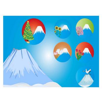 富士山のイラスト - 綺麗な季節を感じる自然の無料素材 - チコデザ