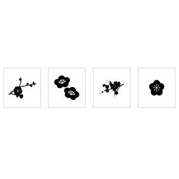 梅|シルエット イラストの無料ダウンロードサイト「シルエットAC」